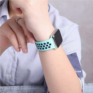 Sport Band Compatible for Apple watch Mint/Blue